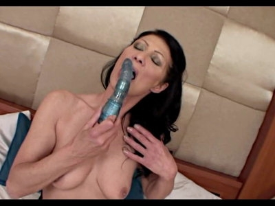 Skinny Mature Brunette And Her Sex Toy
